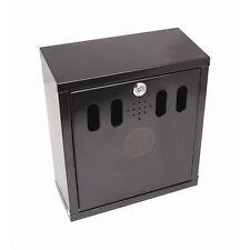 Genware Black Wall-Mounted Outdoor Ashtray Trays Pub Cigarette Bin 26x28x16cm
