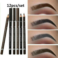 12PCS/Set Waterproof Eye Brow Eyeliner Eyebrow Pen Pencil Makeup Cosmetic Tool