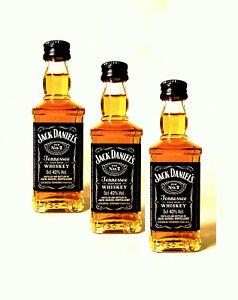 (9,93€/100ml) 3 x Jack Daniels No.7 Mini I Tennessee Whiskey Miniatur 3 x 50 ml