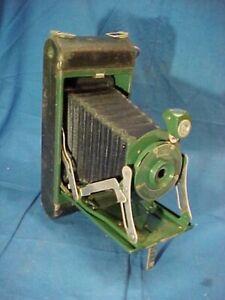 Vintage KODAK Jr Folding POCKET CAMERA No 1 KODO in GREEN Color