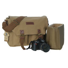 AU POST Vintage Canvas DSLR SLR Camera Bag Shoulder Bags Messenger For Canon