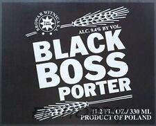 Poland Brewery Witnica Black Boss Beer Label Bieretikett Cerveza wi57.2