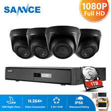 Sannce 4Ch 1080N Dvr 2Mp Video Outdoor Surveillance Security Camera System 1Tb