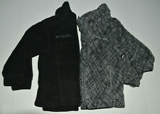 Lot Of 2~Toddley Boy 3/3T Columbia Fleece Zip-Up Jacket/Coat Black/Grey Print