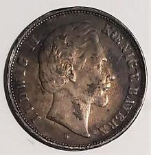 Germany Bavaria 1876 5 Mark .900 Silver Coin Ludwig II KM 896