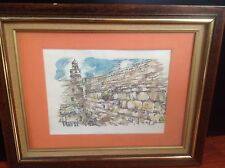 """Judica Water Color Painting By The Israeli Artist Avni 16""""x20"""""""
