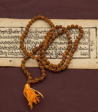 Collier Mala Tibetain Rosaire Shiva Graines Rudraksh Rudraksha Ø 6mm Nepal 6632
