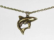 Collar de Tiburón; Collar Colgante Bronce dentro de Bolsa De Regalo