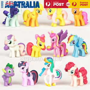 12 x My Little Pony Cake Topper Figure Figurine Decor Toy Set Kids Gift Doll AU