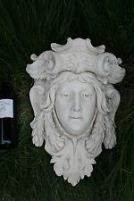 Antique Xl heavy French Chalkware plaster Caryatid goddess head wall console no1