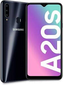 Samsung Galaxy A20s Dual Sim Black Android 32GB 4G LTE (Unlocked) Smartphone