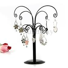 New Jewelry Tree Stand Display Antique Silver Birds Earring Necklace Holder Rack