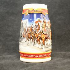 Budweiser Stein Collector Mug 1999 A Century Of Tradition 1900-1999 Christmas