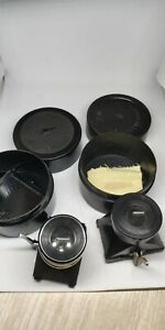 Vintage Magnifier Device Loupe for Viewing Film Frames L-5 USSR. 2 pieces