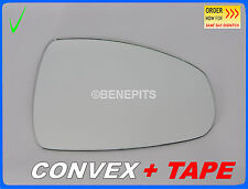 Wing Mirror Glass For Audi A1 2010-2015 CONVEX + TAPE Right Side #A026 /416