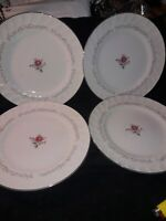"USED 4 ROYAL SWIRL FINE PORCELAIN CHINA DINNER PLATES 10 1/4""R MADE IN JAPAN"