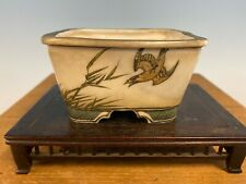 Shohin Size Sano Daisuke Hand Painted Bonsai Tree Pot, 4� Top Shelf Works