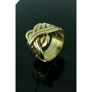 Puzzle Ring By Herron Puzzle Ring 9ct Gold Eight Piece Yellow Gold (size Z-Z+4)