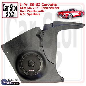 "Custom Autosound KCV-58/2-PIO Kick Panels&6.5"" Speakers 58-62  Chevy Corvette"