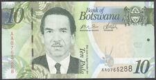 BOTSWANA - 10 Pula 2009 Banknote Note - P 30a P30a - UNC