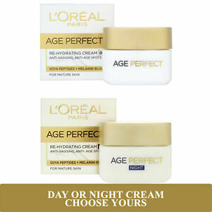 L'Oreal Age Perfect Re-Hydrating Day & Night Cream 50ml for Mature Skin Free P&P