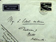 NEDERLAND INDIES INDONESIA 1938 TIEN JAAR VALUE ON AIRMAIL COVER TO HOLLAND