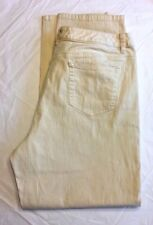 Liz Claiborne Womens Jeans Size 16 Straight Leg Fit Casual Light Yellow Boot Cut