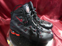 NIKE SHOX NU Mid *RARE* OG Black & Red - Running Trainer Boot - Size 7.5 UK/42eu