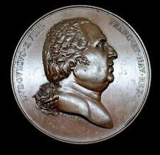 NICE  France, Bronze Medal, Entrée de Louis XVIII à Paris, 1814, Galle 68mm