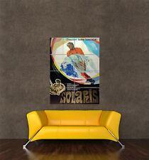 Imprimé Poster Vintage AD film film URSS Solaris sci-fi Space Station pdc135