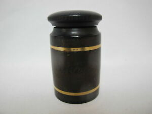 Vintage SKRIP Bottle INKWELL with 14k Yellow Gold Accents Monogram EE