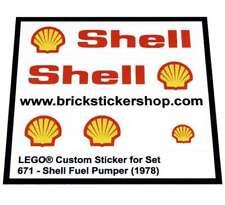 Replica Pre-Cut Sticker for Lego®Classic Town Set 671 - Shell Fuel Pumper (1978)