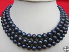 "Pearl Necklace 50"" Aaa 9-10Mm Tahitian Black"