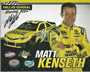 - MATT KENSETH   - Autographed Driver's Postcard      [b8]
