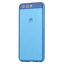 ORIGINAL ROCK Silicona Funda Estuche Transparente / Azul para Huawei P10