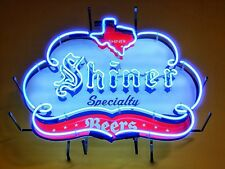 "New Shiner Beer Texas Bar Neon Light Sign 24""x20"""