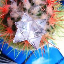 Natural Tibet AAAA Quartz crystal Stone Carved Point Sacred Merkaba Star Healing