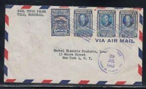HONDURAS Commercial Cover Tela to New York City 29-7-1952 Cancel