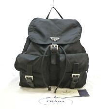 Authentic PRADA VELA NERO Medium Backpack Black Nylon B2811X #S309085