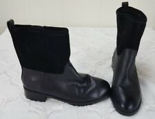 Gap Womens Size 5 Ankle Boots Black Leather Moto Fashion Boots Slip-On