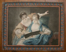 LOUIS-MARIN BONNET `THE FINE MUSETIONERS` RAOUX, PASTELLMANIER, HÉROLD 300, 1775