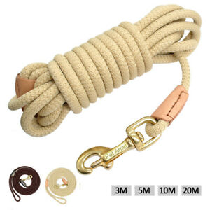 Long Dog & Horse Training Tracking Leash Recall Obedience Rope Dog Walking Leads