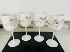 💋MOET & CHANDON CHAMPAGNE COCKTAIL PLASTIC LARGE GLASS X4💋