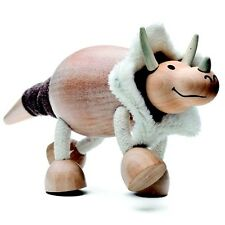 TRICERATOPO-Wood Toy DINOSAURO con arti flessibili    by ANAMALZ