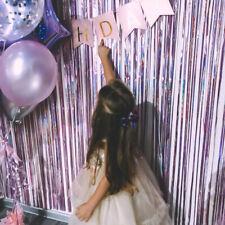 Party Backdrop Metallic Foil Fringe Curtain Shimmer Birthday Wedding Wall Decor