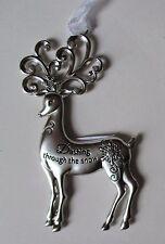 ccd Dashing through the snow Merry Reindeer Christmas Ornament Ganz Car Charmy