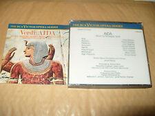 Verdi Aida Milanov Bjoerling RCA Victor 3 cd +Thick Booklet no slip case 1968