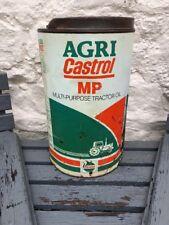 Vintage Agricastrol Castrol Tractor Oil Can Industrial Automobilia Display