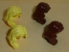 Lego Figur Zubehör Mütze Basecap Weiss mit Blonden Haar 152 #