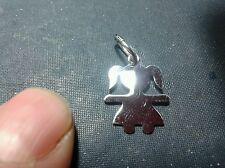 1 CIONDOLo Bebè bimba argento 925  pendant  alto  1.5 cm circa